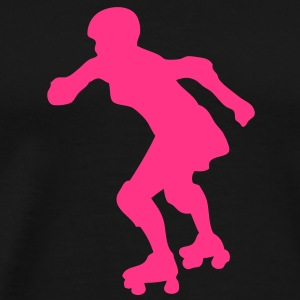 roller derby femme silhouette1 Tee shirts - T-shirt Premium Homme