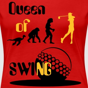 Evolutie Queen of Golf Women's Swing  T-shirts - Vrouwen Premium T-shirt