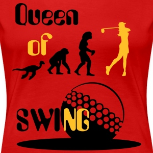Evolution Women's Golf Queen of Swing.  T-Shirts - Women's Premium T-Shirt