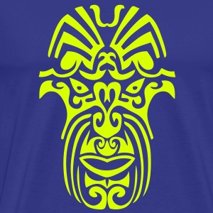 masque maori tribal tattoo8 ethnique Tee shirts - T-shirt Premium Homme