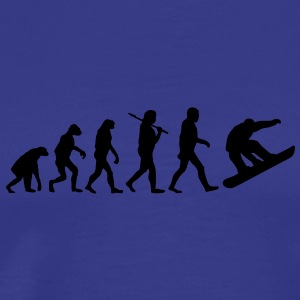 evolution of snowboarding Tee shirts - T-shirt Premium Homme