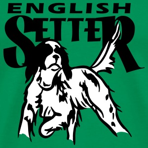setter_in_pointing_2 T-skjorter - Premium T-skjorte for menn