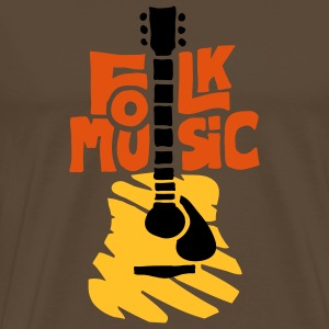 folk_music_guitar T-Shirts - Men's Premium T-Shirt