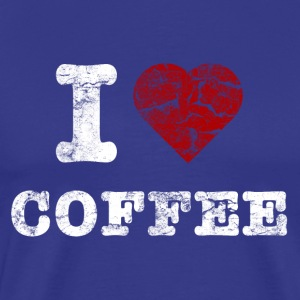 i love coffee vintage hell T-shirts - Mannen Premium T-shirt