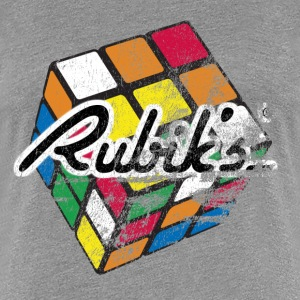 Rubiks Distressed - Women's Premium T-Shirt
