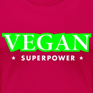 VEGAN SUPER POWER T-Shirts - Frauen Premium T-Shirt