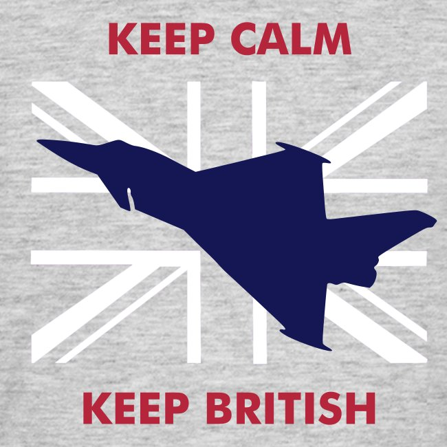 Keep Calm Keep British Typhoon and Union Flag
