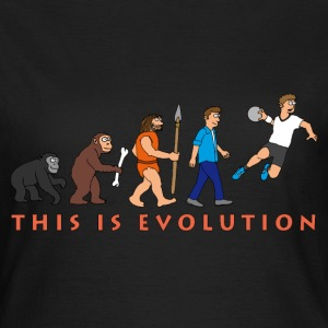 evolution_handball_comic_122012_c T-Shirts - Frauen T-Shirt