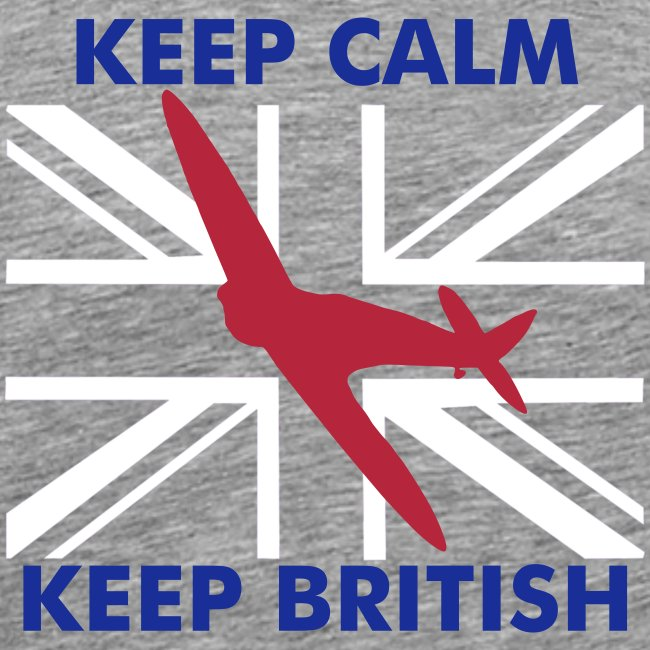 Keep Calm Keep British Spitfire Union Flag