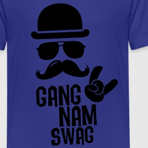 Like a Gangnam swag style boss moustache t-shirts Shirts - Teenage Premium T-Shirt