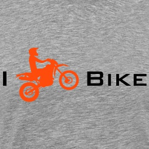 I Love my Enduro Bike T-skjorter - Premium T-skjorte for menn
