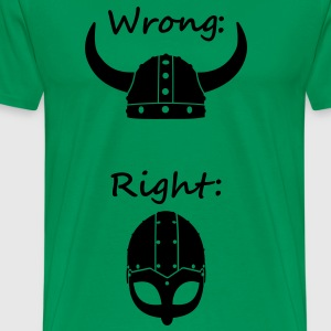 Wikinger - Wrong Right T-Shirts - Männer Premium T-Shirt