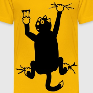 cat hanging on T-Shirt - Shit [1 color] Shirts - Kids' Premium T-Shirt