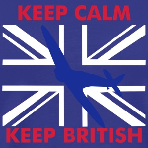 Keep Calm Keep British Spitfire Union Flag - Men's Premium T-Shirt