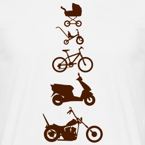 Motorcykel Chopper Evolution Front  T-shirts - Herre-T-shirt