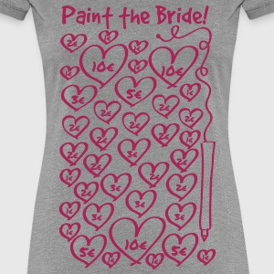 Paint the Bride - JGA T-Shirts - Frauen Premium T-Shirt