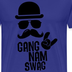 Like a Gangnam swag style moustache boss t-shirts T-shirts - Herre premium T-shirt