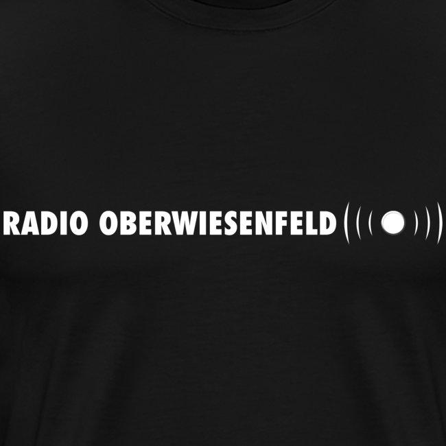 T-Shirt (schwarz) mit hellblauem Schriftzug