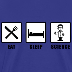 eat sleep science 001 T-Shirts - Männer Premium T-Shirt