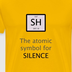 Chemical Symbol of Silence - Men's Premium T-Shirt