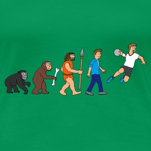 evolution_handball_comic_122012_a T-Shirts - Frauen Premium T-Shirt