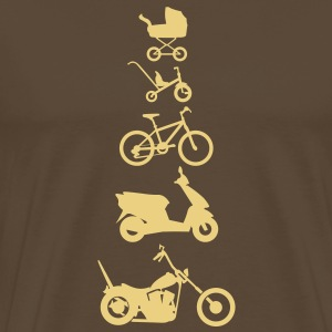 Motorcykel Chopper Evolution Front  T-shirts - Herre premium T-shirt