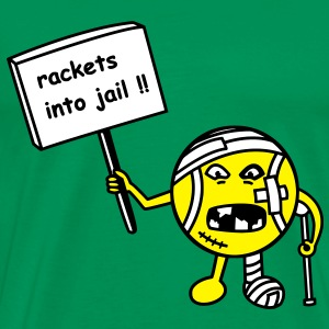 rackets into jail T-shirts - Mannen Premium T-shirt