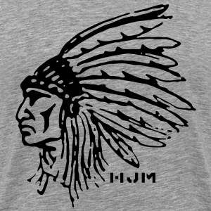 Indian Chief (Gray) - Men's Premium T-Shirt