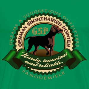 german_shorthaired_pointer_htr T-shirts - Premium-T-shirt herr