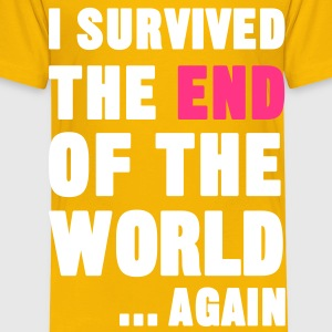 I Survived the End of the World Shirts - Kinderen Premium T-shirt