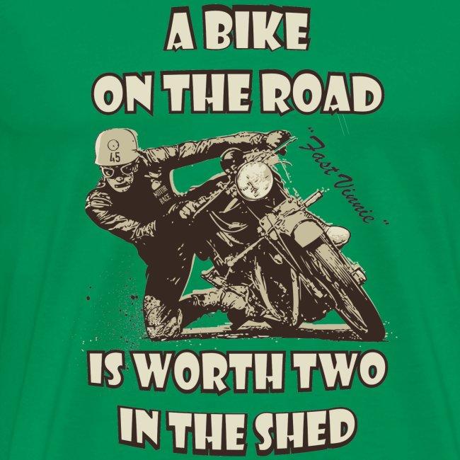 A bike on the road in 3XL 4XL 5XL