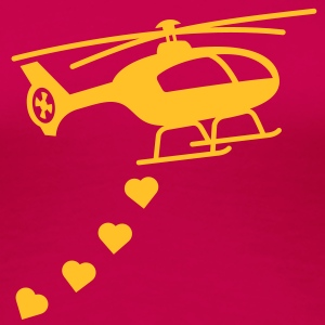 Army Helicopter Bombing Love T-Shirts - Women's Premium T-Shirt
