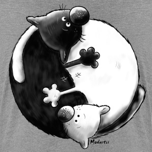 Black and White - Yin Yang – chats Tee shirts - T-shirt Premium Femme