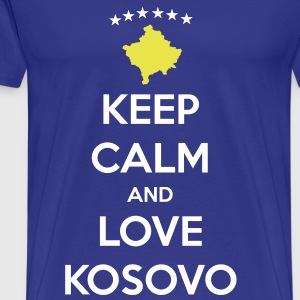 KEEP CALM AND LOVE KOSOVO Tee shirts - T-shirt Premium Homme