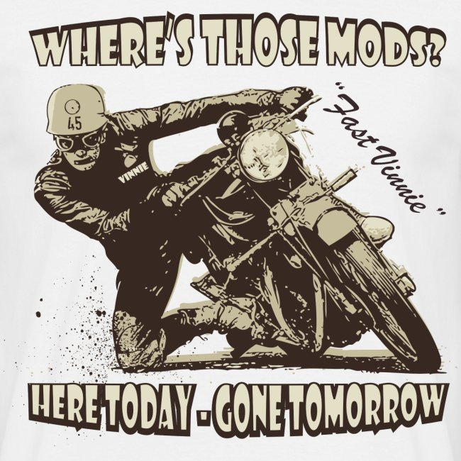 Where's those Mods biker t-shirt