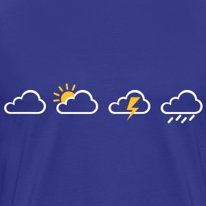 Weather clouds  T-Shirts - Men's Premium T-Shirt