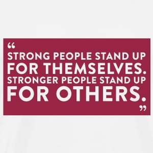 Quote Strong People (1c)++2012 T-Shirts - Männer Premium T-Shirt