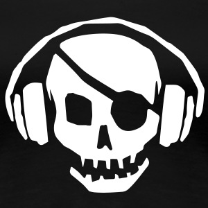 Pirate Flag Music Skull & Crossbones - Women's Premium T-Shirt