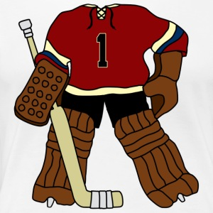 Vintage Ice Hockey Goalie T-Shirts - Women's Premium T-Shirt
