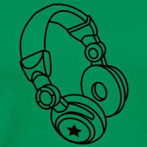 Headphones - Star T-Shirts - Men's Premium T-Shirt
