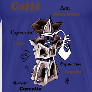 Coffee Art Illustration - Moka Pot - Men's Premium T-Shirt