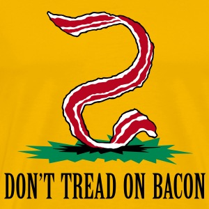 Don't Tread on Bacon (velvet print) - Men's Premium T-Shirt