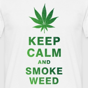 KEEP CALM AND SMOKE WEED T-Shirts - Männer T-Shirt
