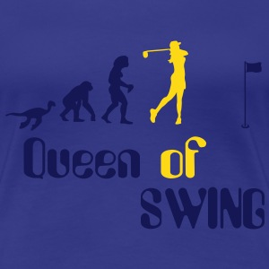 Evolution Frauen Golf Queen of Swing Shirt for Gir - Frauen Premium T-Shirt