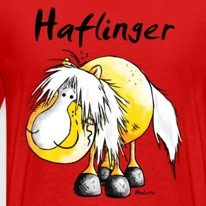 Haflinger - Pferd - Cartoon - Shirt Design T-Shirts - Männer Premium T-Shirt