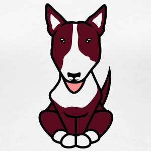 Bullterrier Illu 2013 brown T-Shirts - Frauen Premium T-Shirt