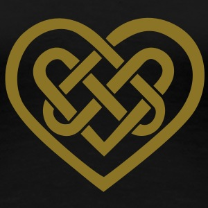 Celtic heart, symbol - infinite love & loyalty T-shirts - Dame premium T-shirt