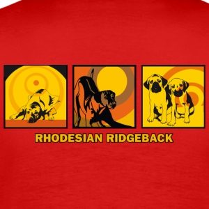 Rhodesian Ridgebacks Pop Art T-skjorter - Premium T-skjorte for menn