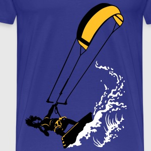 Kitesurfing and wave - Männer Premium T-Shirt