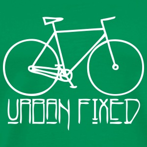 Singlespeed URBAN FIXED green - Männer Premium T-Shirt
